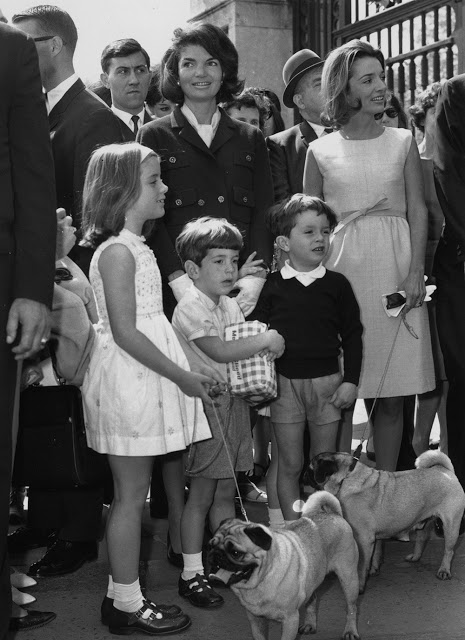 Jackie Kennedy and her children