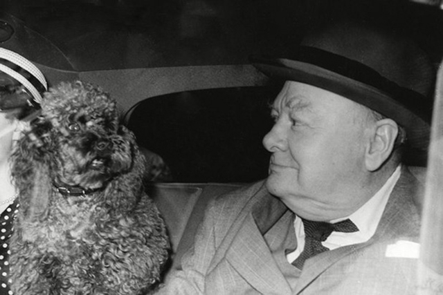 Winston Churchill with Rufus