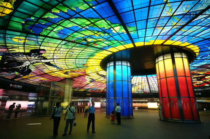 Станция метро. Гаосюн, Тайвань.