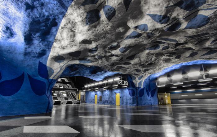 Стокгольм, Швеция - станция метро. 4