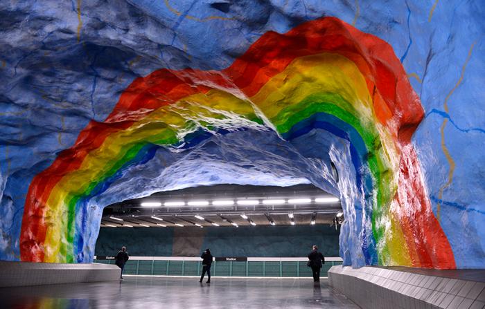 Стокгольм, Швеция - станция метро. 5