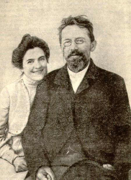 Чехов с женой Ольгой Книппер.
