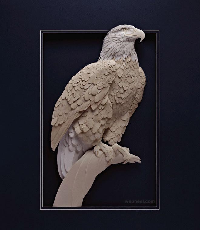 10-paper-sculpture-eagle-by-calvin-nicholls