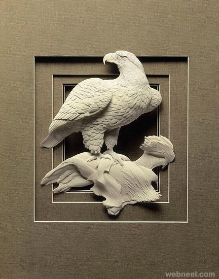 16-eagle-paper-sculpture
