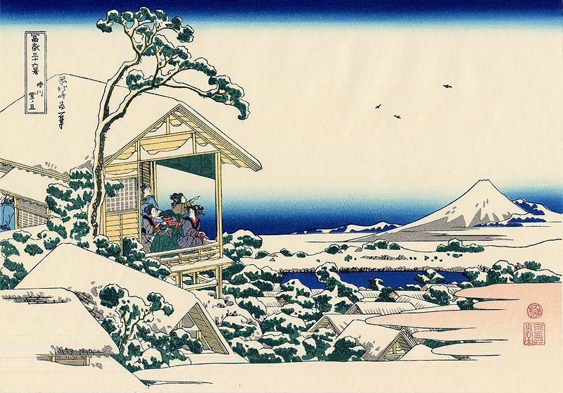 24.Снежно утро на река Коишигава