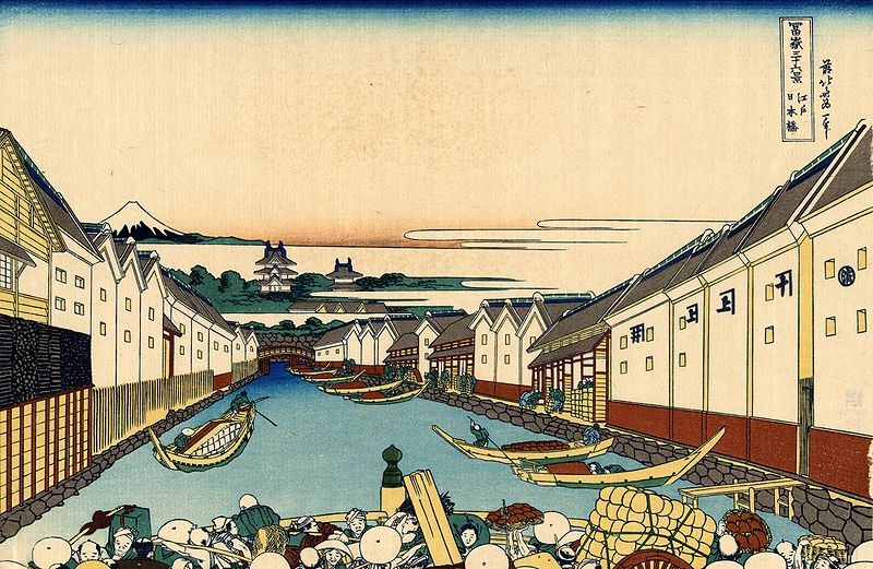 31.Мостът Нихонбаши в Едо