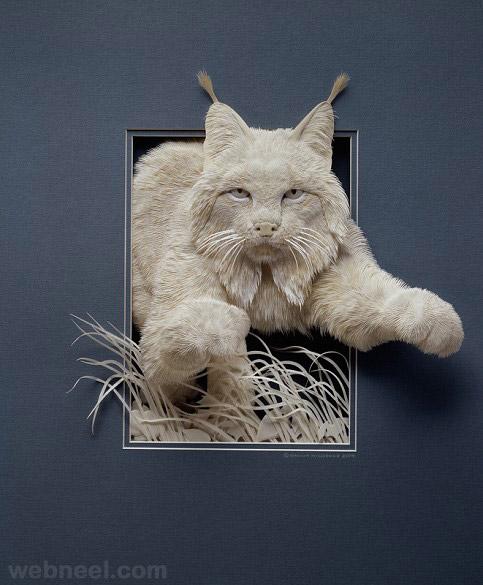 5-paper-sculpture-cat