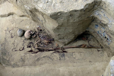 A medieval pagan warrior's tomb has been unearthed in Poland