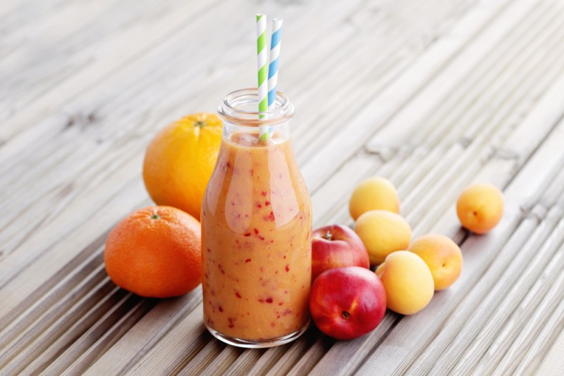 Easy-Orange-Apricot-Peach-and-Yogurt-Shake