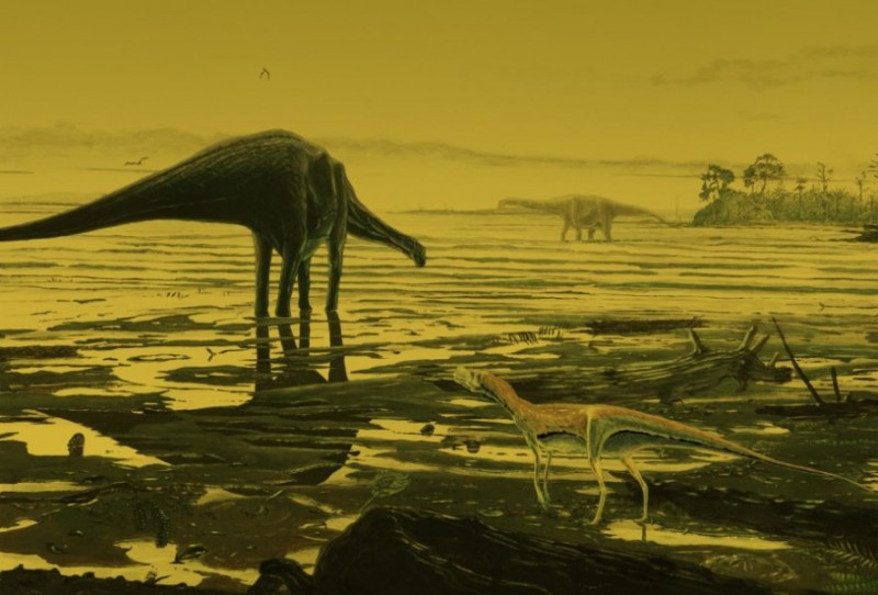 Fossil_dinosaur_tracks_give_insight_into_lives_of_prehistoric_giants