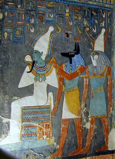Боговете на Озирис, Анубис и Хор
