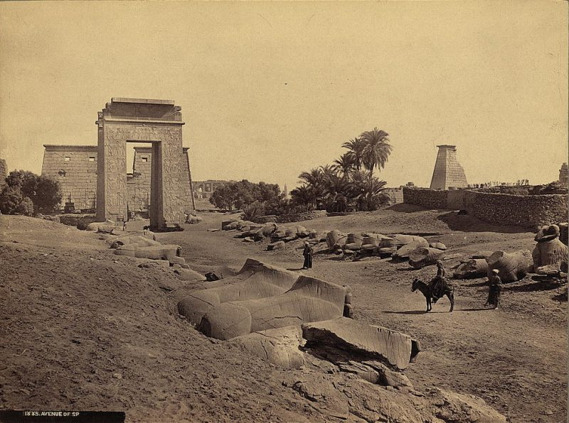 Photos of Ancient Egyptian Monuments More Than 100 Years Ago (15)