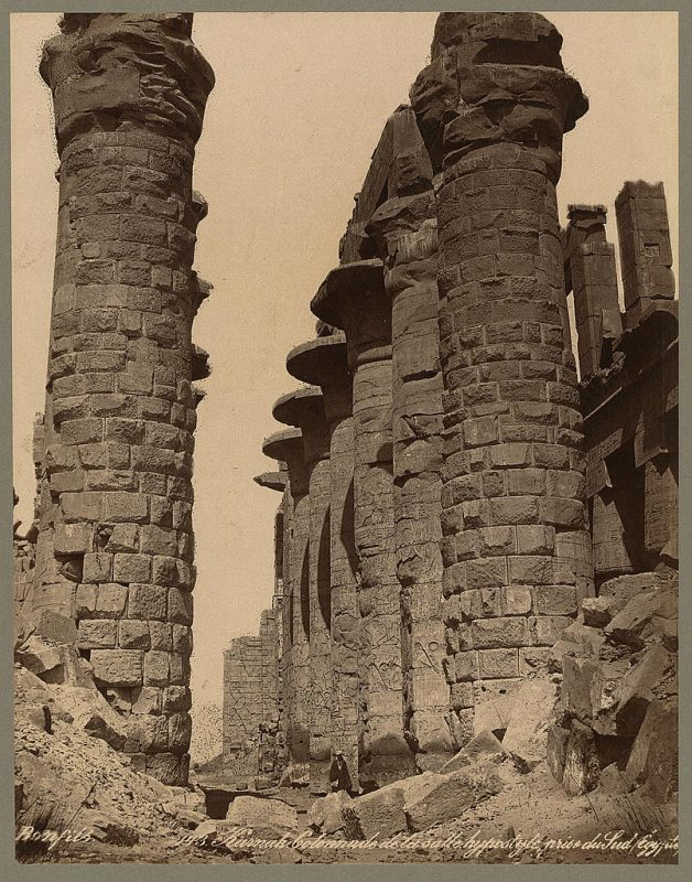 Photos of Ancient Egyptian Monuments More Than 100 Years Ago (18)