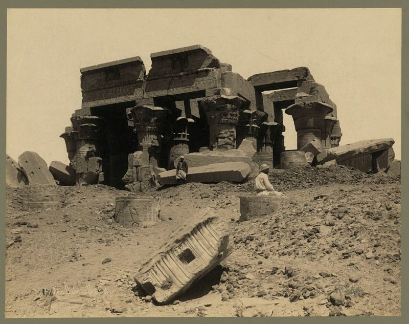 Photos of Ancient Egyptian Monuments More Than 100 Years Ago (23)