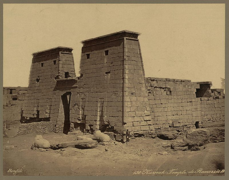 Photos of Ancient Egyptian Monuments More Than 100 Years Ago (24)