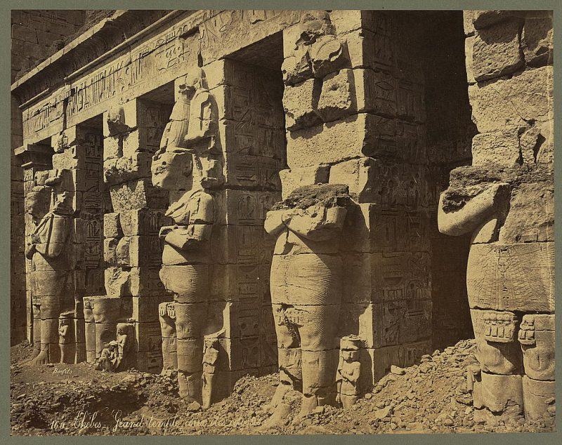 Photos of Ancient Egyptian Monuments More Than 100 Years Ago (27)