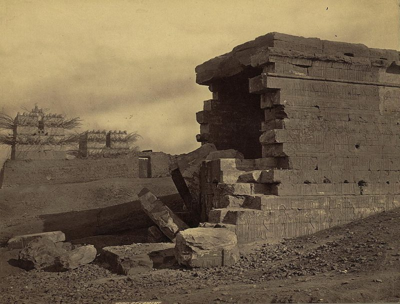 Photos of Ancient Egyptian Monuments More Than 100 Years Ago (33)