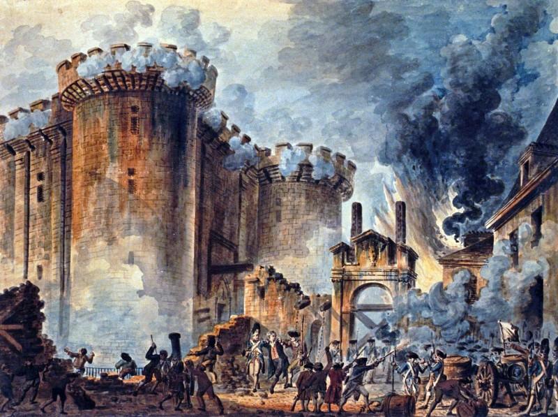 Щурм на Бастилията на 14 юли 1789 г. в началото на Френската революция