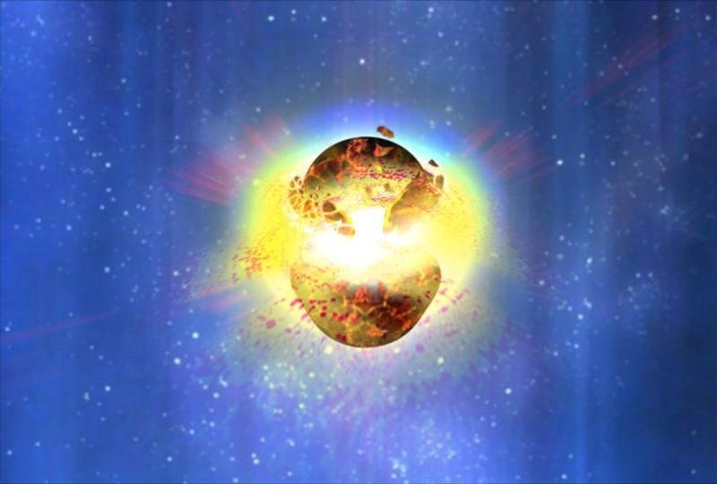 burst of gamma rays