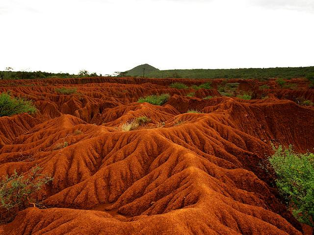 land through erosion