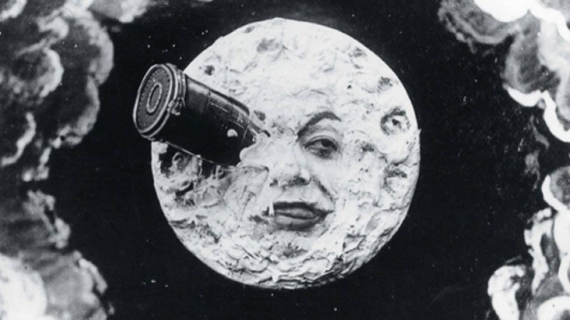 "A scene from ""A Trip to the Moon"" (1902) by Georges Méliès"